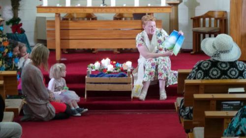Rev Jill & Children Christmas Day 2019