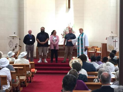 Nov18 Four new members are welcomed into our St Andrews Church family