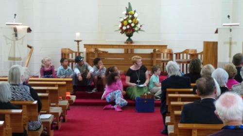 Rev Jill McDonald & Children